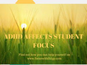 Productive ADHD student focus